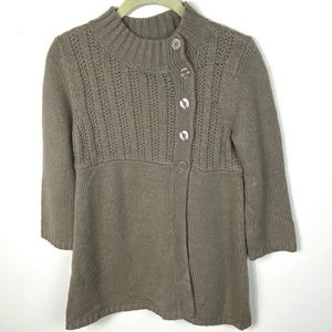 Urban Outfitters Grey Babydoll Knit Wool Cardigan